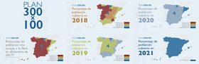 Spanish President Mariano Rajoy Brey has announced plans to spend €525 million to bring a minimum optical access speed of 300 Mbits/s to 100% of Spain's population centres in the next three years.